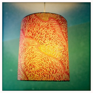 handmade, lampshade, lampshades, chiyogami, japanese, paper, swee mei