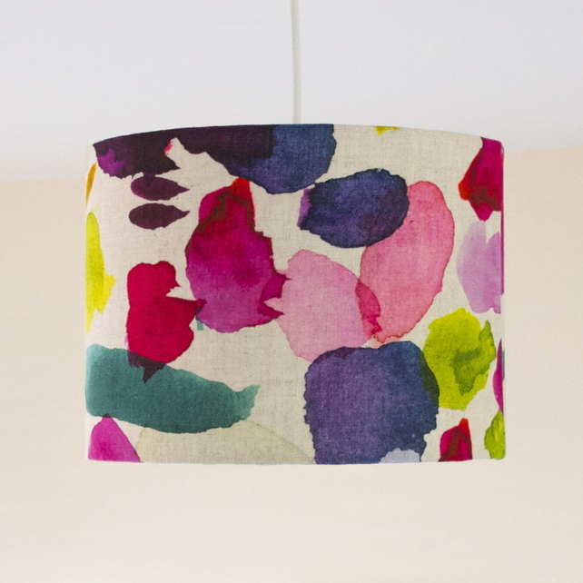 Lampshade in bluebellgrays abstract fabric